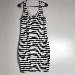 Forever 21 Body Con Dress in Black & White Pattern
